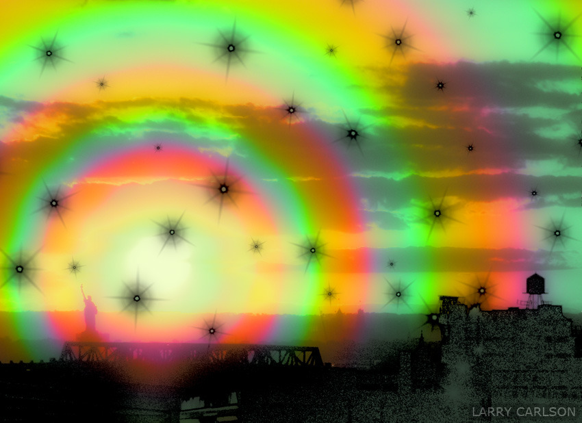 LARRY CARLSON, The View from Park Slope Brooklyn, digital photography, 2012.