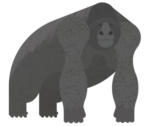 Gorilla: Finally finished the Gorilla. I Just changed the face a bit, because It wasn't that great to be honest. I didn't do a lot to it but I think It's quite a bit better. Feel free to let me know If you agree, or disagree.