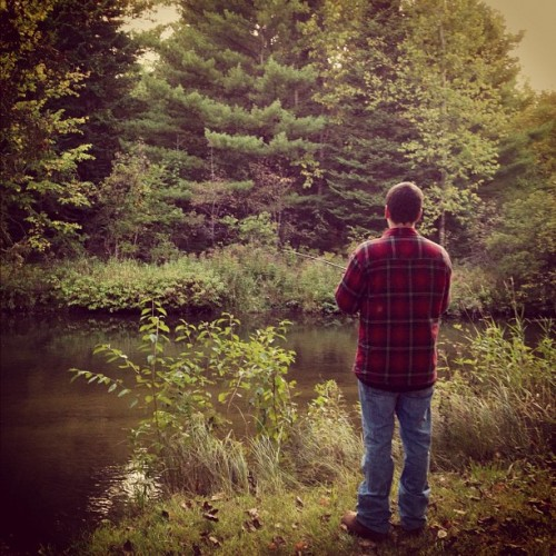 @troybarber #boyfriend #fishing #nature #river #trees  (Taken with Instagram)