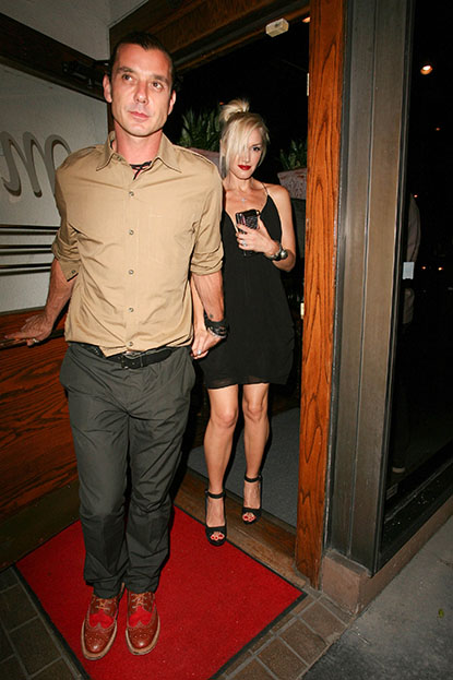 Date Night! Gwen Stefani and husband Gavin Rossdale go on a dinner date at Madeo Restaurant in West Hollywood on September 14, 2012.