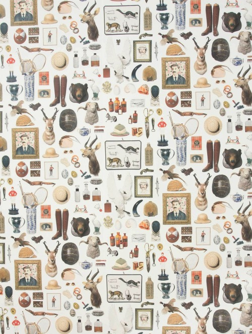 Beautiful wallpaper by Hollister and Porter Hovey of Hovey Design.