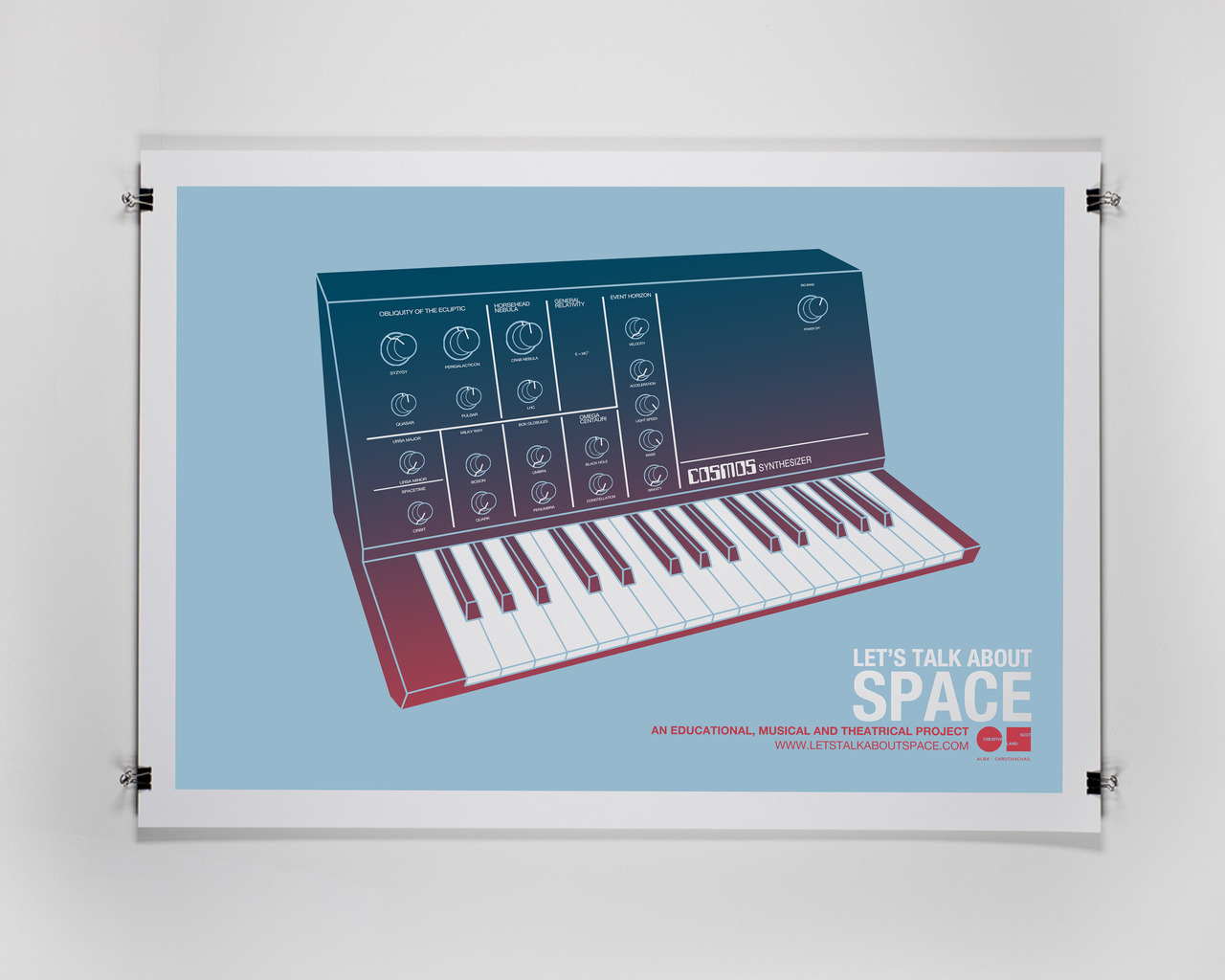 Let's Talk About Space handmade A2 screen prints.