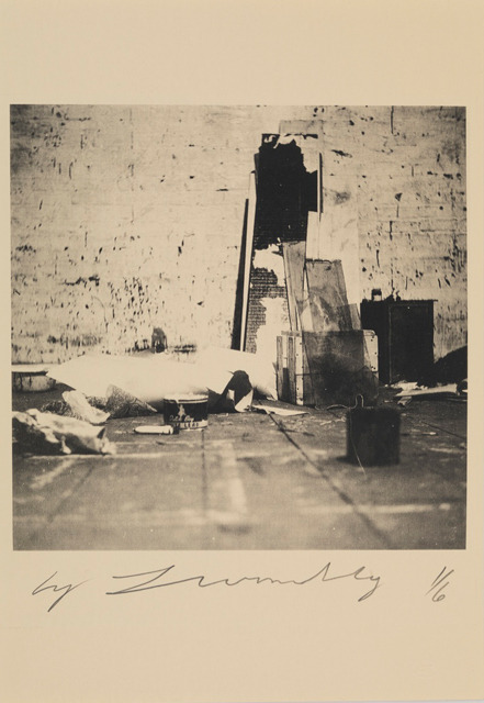 Cy Twombly, Robert Rauschenberg Combine Materials Fulton St. Studio (New York), 1954. Color dry-print. Courtesy of Gagosian Gallery. The J. Paul Getty Museum in Los Angeles recently announced its acquisition of 29 Twombly photographs, including this great image from Rauschenberg's studio in 1954.