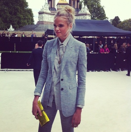 Gabriella Wilde at Burberry, Spring 2013 Womenswear (London) yes yes yes // marleyandme:ralubi