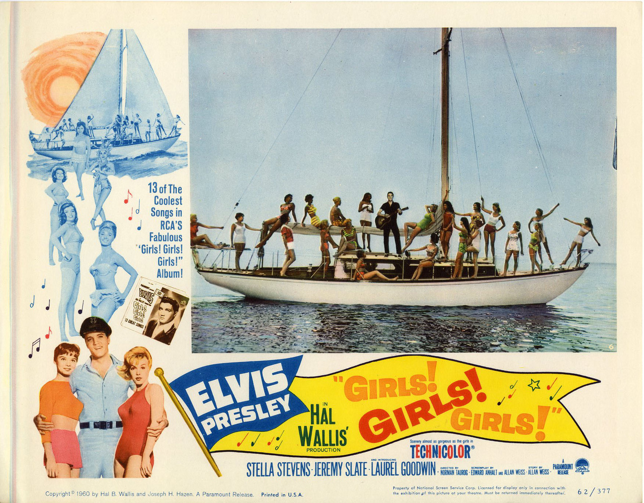 Girls! Girls! Girls!, US lobby card. 1962