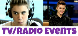 CLICK THE PHOTO ABOVE TO VIEW ALL OF JUSTIN'S UK TV & RADIO EVENTS.