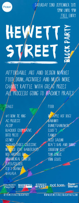 Hewett Street Block Party  22nd September 2012 12:00 - 21:00  This coming Saturday our street is getting blocked off for a good old fashioned block party with a East End twist.  So for one day only we have the license to sell some coffee cocktails alongside our tasty beverages. So as we finalise our recipe's and special guests, put the date in our diary as it's going to be a lot of fun.   DunneFrankowski