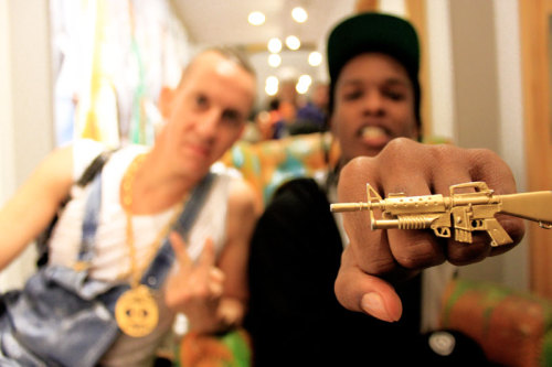 adidasoriginals:  A$AP Rocky & Jeremy Scott, adidas Originals store, NYC.