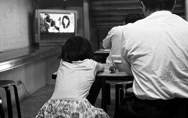 Daughter & father on Flickr.NikonFE , Kodak TriX400@3200,