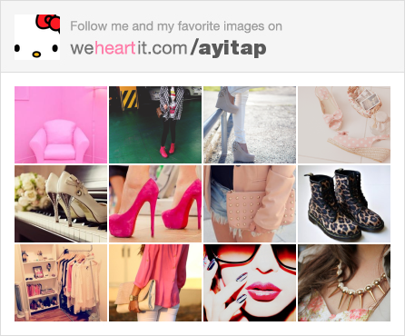 Follow me on We Heart It! <3 <3 <3