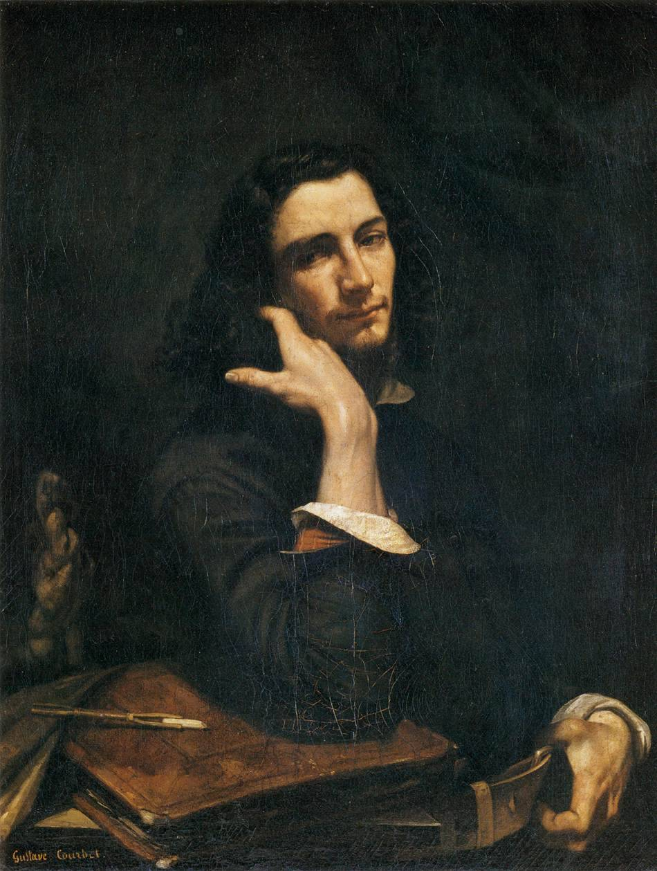 arthistory-blog:  Self Portrait (Man With Leather Belt), 1845-46 by Gustave Courbet
