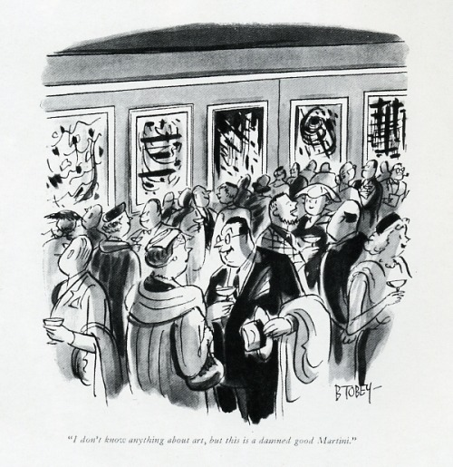 an-imbibing-gentleman:  Cartoon in The New Yorker by Tobey, 1956.