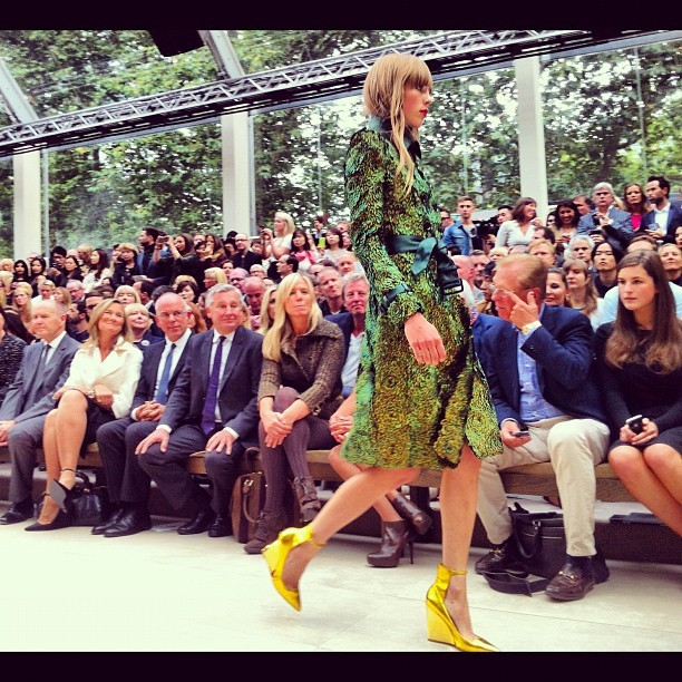Highlight of #LFW - front row @burberry! so beautiful I quite literally wanted to run off with whole collection! #burberry  (Taken with Instagram)