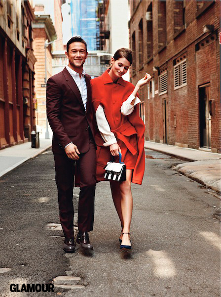 glamour:  Date night outfit idea from our October issue: wear a cape over dress, jeans, or skinny pants. (Add Joseph Gordon Levitt for instant glow-factor.) Photo: Nicholas Moore