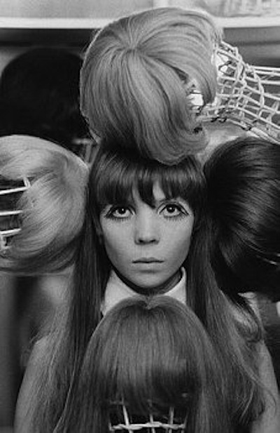 Arnaud de Rosnay, photograph Penelope Tree with Wigs. (October 1967). Image by © Condé Nast Archive/Corbis