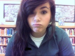 hi I take random pictures of myself at school