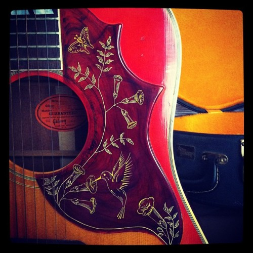 heytheresweetness:  1964 Gibson Hummingbird; and it's finally mine!! (Taken with Instagram)  Really want this guitar