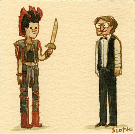 "scottlava:  ""Rufio! Rufio! Rufioooooooo!""  **RETURN OF THE GREAT SHOWDOWNS exhibition/ book release this Friday!"