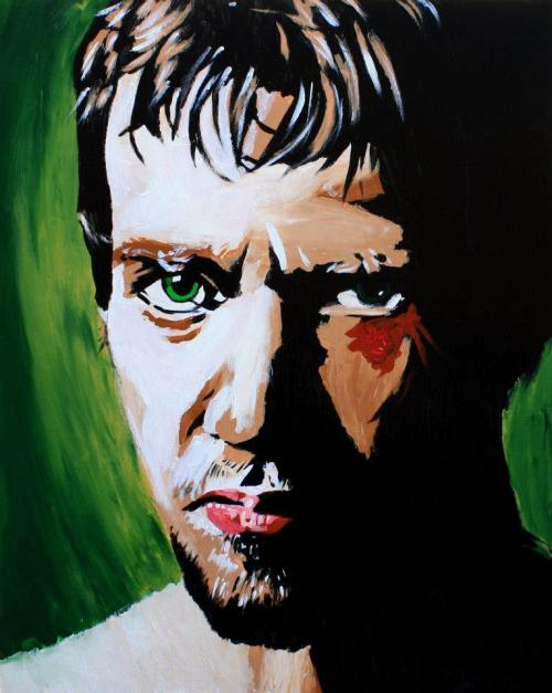 wrestlingdelorean:  Daniel Bryan painting by Rob Schamberger: September 17, 2012 The latest wrestling champions painting by my friend Rob. He's doing fantastic work. If you haven't heard about his project to paint every wrestling champion, read up, son.