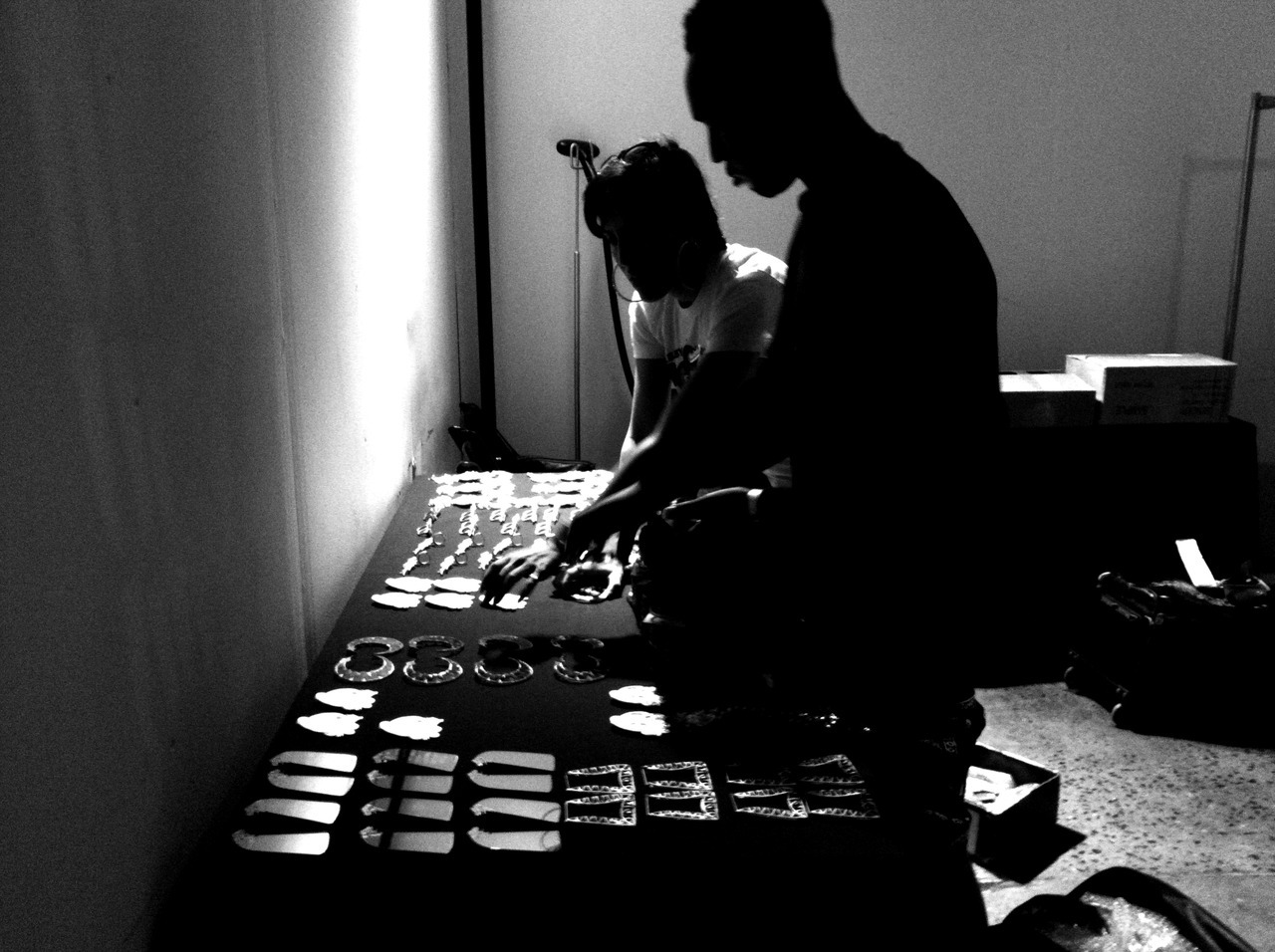 M.E. behind the scenes at the Jeremy Scott Arab Spring SS13 show, NYFW.