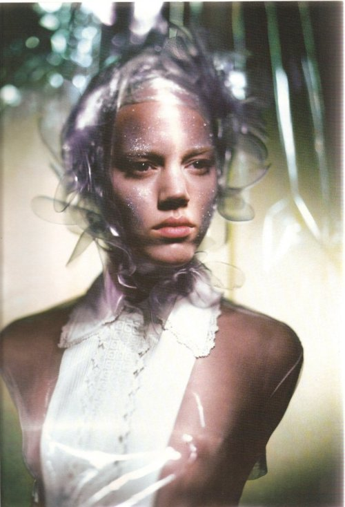 Freja Beha Erichsen by Paolo Roversi for Vogue Italia, February 2007