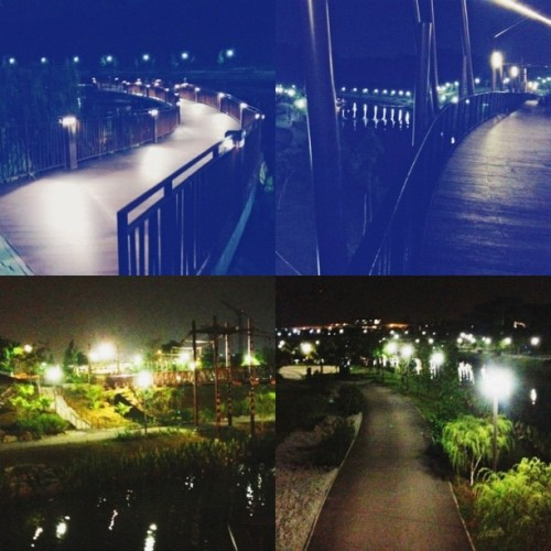 Cycled with bestfriend to all these awesome places!  (Taken with Instagram at Punggol Waterway)