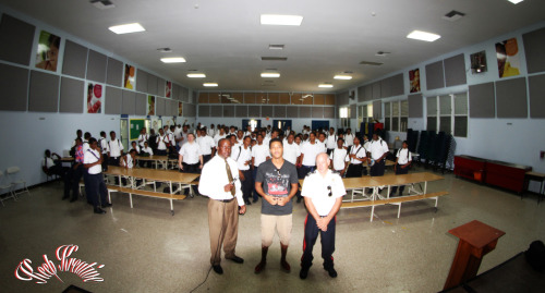 "I was invited to speak at John Gray this morning for the year 11 boys, Me and my bro @jaybasscitizen gave some inspiration It was real cool. ""You can't achive success without hard work and determination"" Thanks to Stephen Myers and Murray Christopher"