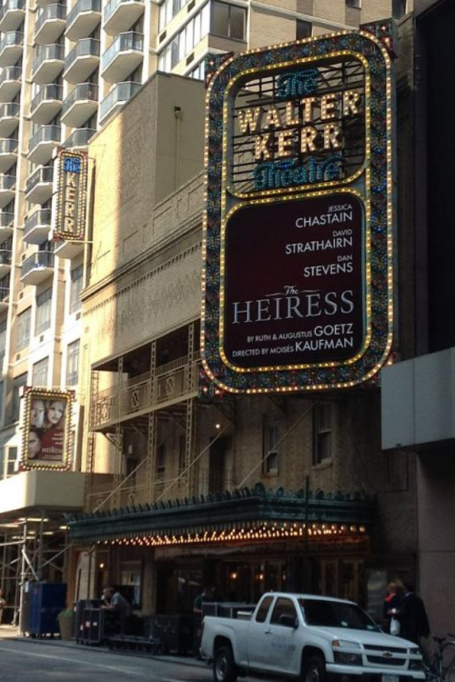The Heiress at The Walter Kerr Theatre  Yaayyyyyy I can't wait!