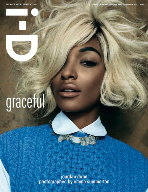 Jourdan Dunn's 6th i-D cover I-D Pre-Fall 2012 #321  Jourdan Dunn Photography: Emma Summerton  Styling: Edward Enninful