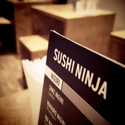 late dinner with David at Sushi Ninja – View on Path.