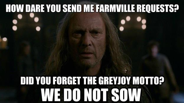 Hahahaha! No more Farmville invites!