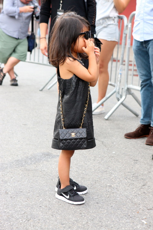 dapprly:  Photo: Chloe Zhao(Lincoln Center, NYFW) Alexander Wang's niece, Aila Wang is rocking this little black dress!
