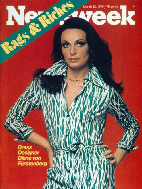 I got Diane von Furstenberg for my 70's decade inspiration!!! Yes! Look at that sexy woman!