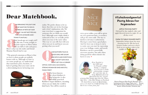 Oh what a joy it is to write for Matchbook Magazine each month. pg. 40-41 of the September Issue. Enjoy!