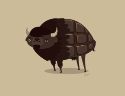 Bitter (Chocolate) Buffalo by Venetta Society6