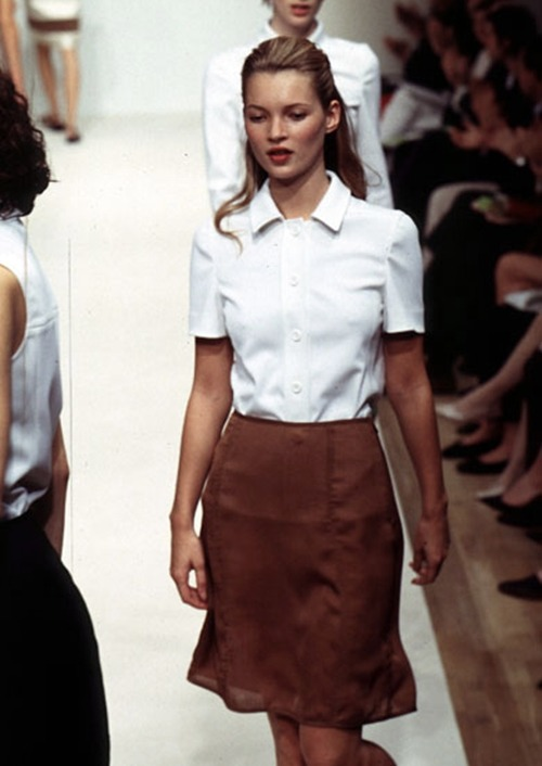 hollymurdoch:  lavandula:  kate moss at prada spring/summer 1996  Outfit goals