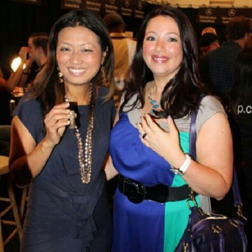 Met @JaneParkJulep founder of @JulepMaven backstage at Richard Chai #nyfw #MBFW  (Taken with Instagram)