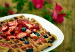 Vegan Berry Waffles