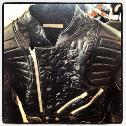 Hello leather jacket of our dreams by Christopher Kane. #LFW (Taken with Instagram)
