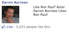 #86. Actors that like Ron Paul
