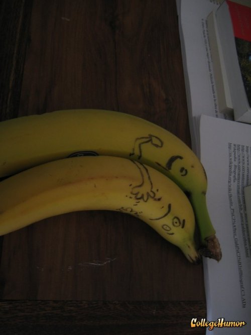 10 Banana Pictures That May Confuse You [Click to view full gallery] Bananas can seem pretty innocuous to the naked eye. But upon closer inspection, bananas are like, kind of super creepy. Here's 10 pictures of the phallic fruit that may have you rethinking your next potassium craving.