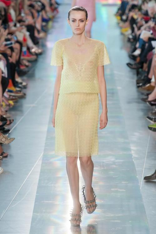 CK served us a spring garden of beautiful ensembles via London Fashion Week S/S 13