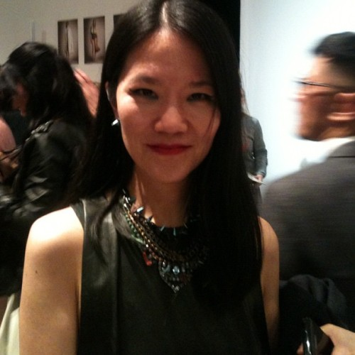 After After an amazing Burberry Prorsum show I then bump into Grace Lam Senior Fashion Style Editor from Chinese Vogue who flew in to London for fashion week- amazing!  (Taken with Instagram)