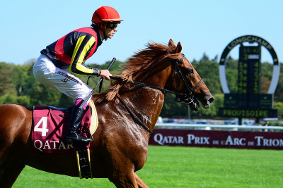 Ok, Orfevre, you're becoming my horse to win the Arc this year. Japan's Triple Crown winner/Horse of the Year shipped to historic Longchamp in France and won its Prix Foy (FR-II) in rail-riding fashion.
