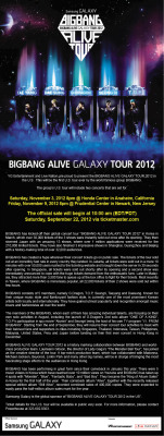 Big Bang Concert tickets for the United States information released by Powerhouse Live!
