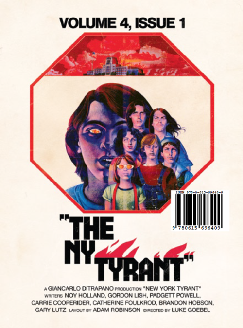 popserial:  The latest New York Tyrant features Tao Lin, R.B. Glaser, Gordon Lish, Padgett Powell, and many more.