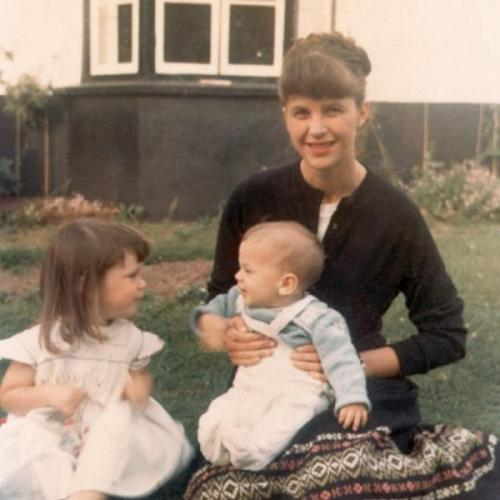 Sylvia Plath with her children, Frieda and Nicholas.  always an inspiration