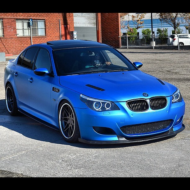 I've got 75 feet of this matte metallic blue vinyl on it's way. Now just need the new whip to install it on.