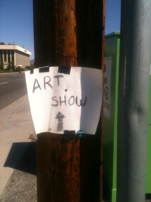 This art show might need some better graphic design, wouldn't you say?