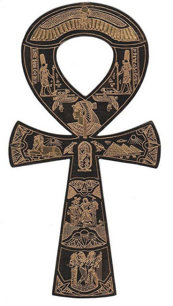 alwaysinsearchoflight:  The ankh symbol represents life and eternal existence. It is the fullyresurrected and glorified form of the deceased in the afterlife, and the result of a successful union of the ba and ka which can then roam freely about the earth. The ankh is a recurrent attribute of the gods, who presenteternal existence to the king.